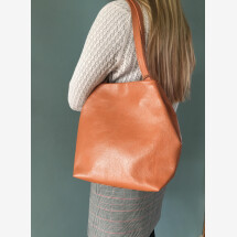 -Small shopper made of upcycled leather-2
