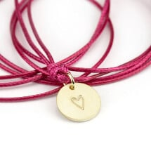 -round pendant 585 gold with stamped heart-20