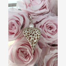 -Heart pendant silver with freshwater pearl-21