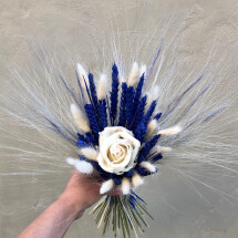 -Dried flower bouquet ivory royal dried flowers bouquet dried flower bridal bouquet bridal bouquet-23
