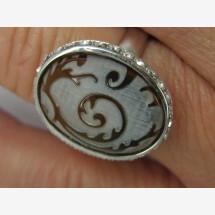 -Zirconia / tortoiseshell ring-20