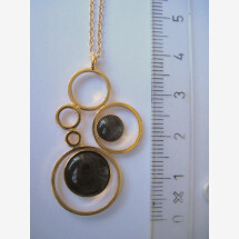-short gold plated chain in bubble design-21