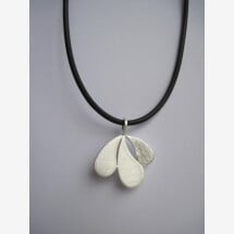 -leaf-shaped silver pendant-21