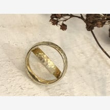 -Hammered gold wedding rings-23