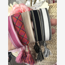 -Cotton bracelet with tassels-22