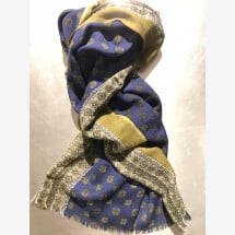 -Olive-blue woven scarf by Mooilo-21