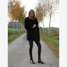 -Faux fur jacket black-21