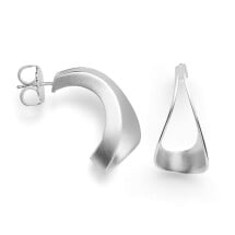 -Curved silver earrings-21