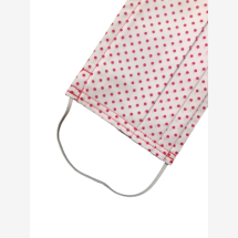 -Makeshift mouth mask white / red dotted-21