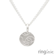 -Silver pendant ZOÉ with structure-2
