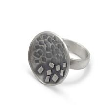 -Large ring blackened silver MAEVA-21