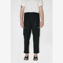 -Black Cargo Pants from CHRISTIAN PELLIZZARI-21