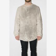 -Beige Dye Linen Shirt from MAVRANYMA-21