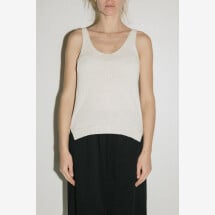 -Cream Knitted Tank Top from POMANDÈRE-21