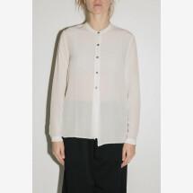 -White Silk Long Sleeve Shirt from POMANDÈRE-21