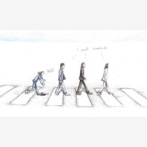 -The Beatles Abbey Road Works signed print-21