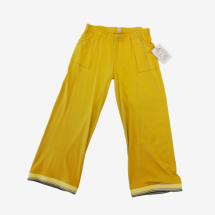 -yellow wide jersey pants cropped-21