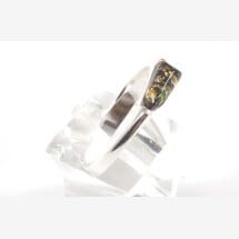 -Arrow Green Amber Silver Ring-21