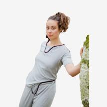 -Light gray yoga pants-2