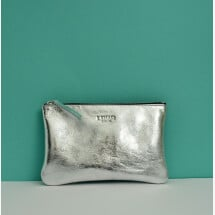-Leather cosmetic bag JUNE silver-2