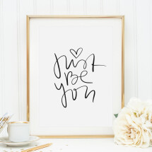 -Tales by Jen Art Print: Just be you-21