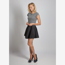 -Mini dress Pippa cotton dress in gray black from cherry-green-21