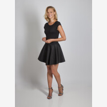 -Mini dress Pippa made of cotton viscose black from cherry-green-21