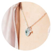 "-Short necklace ""Dandelion"" stainless steel-2"