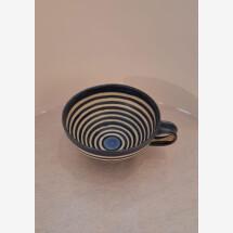 -Ceramic mug with stripes-21