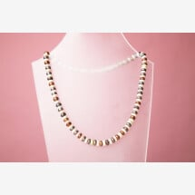 -Necklace freshwater cultured pearl button-21