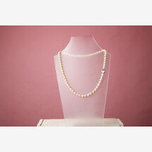 -Necklace silver freshwater cultured pearl-21