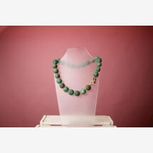 -Necklace gemstone turquoise button cultured pearl silver gold plated-21