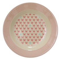 -Sweet deep plate of melamine with crabs and stars-21