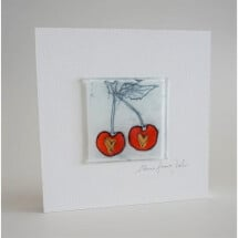-Glass picture cherry 15x15 white-21