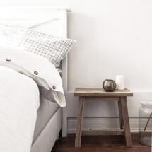 -Linen bed linen Liv white checked Lundkvist-21