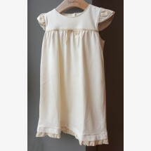 -Baby baptism dress made of 100% organic cotton in ecru-21