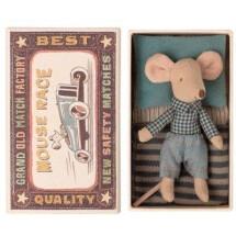 -Maileg Kleiner Bruder Maus in der Streichholzschachtel-21