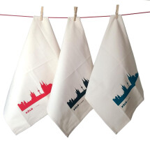 -Set of 3 Cologne kitchen towels Fair Trade tea towel with Cologne skyline-2