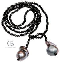 -Crystal necklace Black Baroque-21