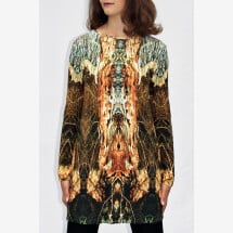 -brown-colored longshirt with own fabric print KYELIE_27-2