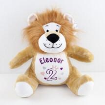 -STUFFED ANIMAL WITH NAME LION ZIPPIE MUMBLES-21