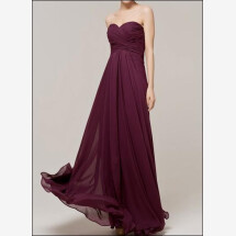 -Floor-length evening dress with gathering in the color grape-23