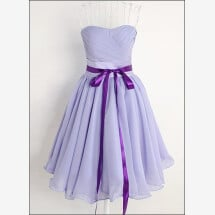 Lavender colored chiffon cocktail dress-23