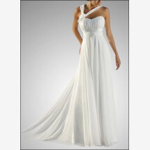 -Empire chiffon wedding gown with flower and carriers-21