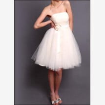 -Short wedding gown made of tulle-23