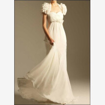 -Empire wedding dress with flower application-22