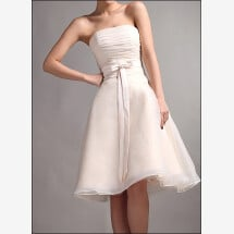-Knee-length dress with ruffle and bow-24