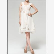 -Short chiffon Empire gown for the registry office-22