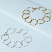 -Large Eternal Circles Bracelet-21