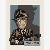 -Leonard Cohen Print A4-21